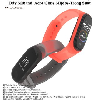 Dây Miband Aero Glass Mijobs-Trong Suốt