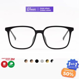 Gọng kính mắt nam nữ Elmee chất liệu nhựa dẻo mắt vuông to cắt cận đi đường chống bụi E2177 thumbnail