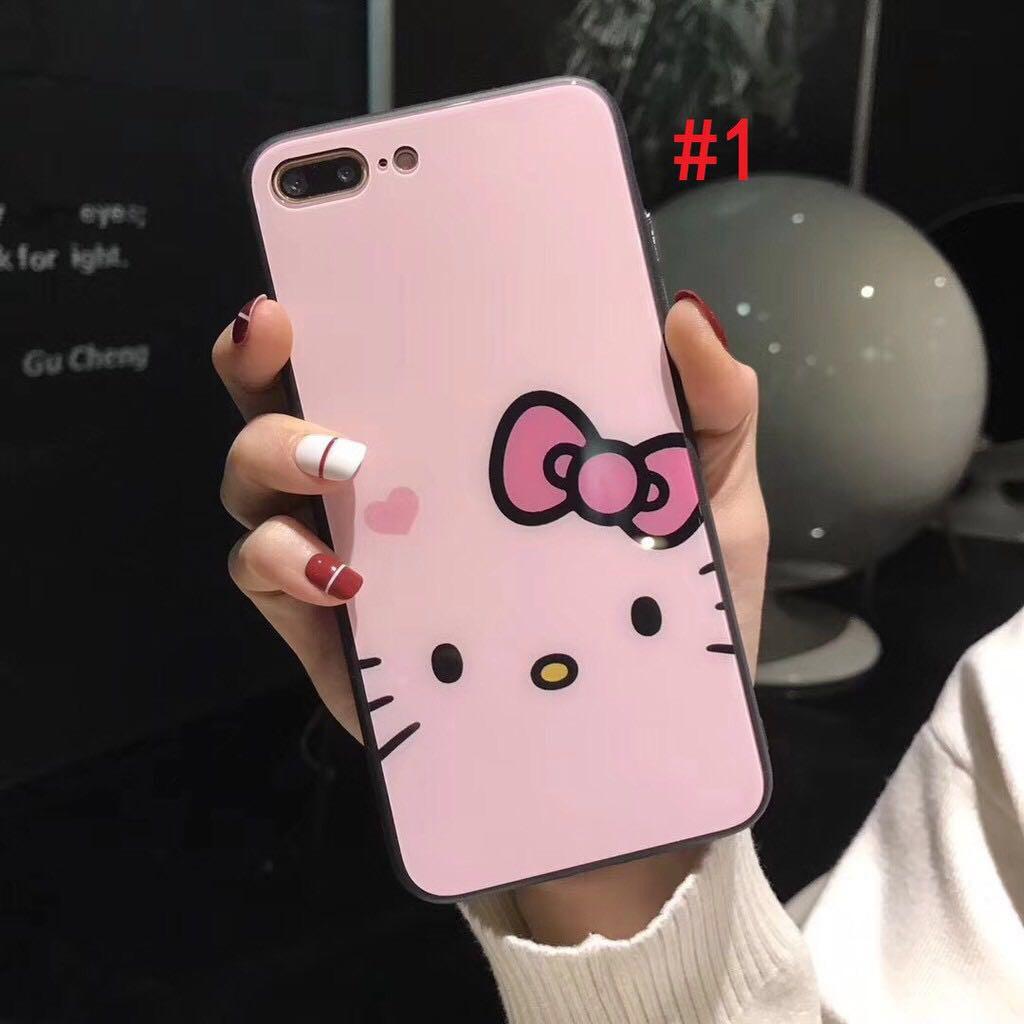 iphone xs max xr x i8 i 7 i 6 s บวกกรณีที่โทรศัพท์ซูเปอร์การ์ตูน hello kitty