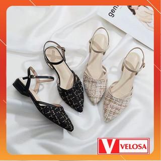 [Mã FASHIONRNK giảm 10K đơn 50K] [SALE BÙNG NỔ] Giày nữ gót 3cm phong cách hàn quốc chất dạ hot 2019 thumbnail