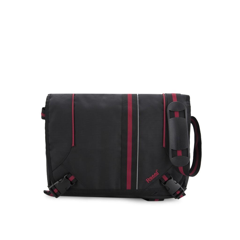 Túi đeo xéo Ronal TDX17 - Đen đỏ