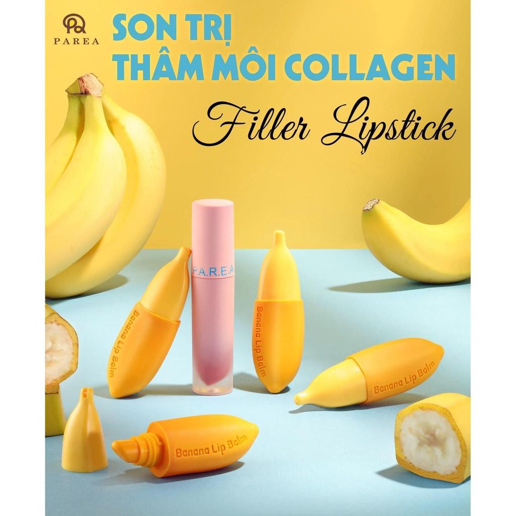 Son chuối khử thâm môi filler collagen lipstick