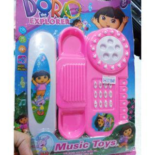 Đồ chơi vỉ điện thoại bàn màu hồng (không kèm pin)