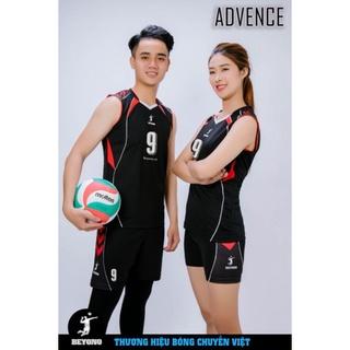 Bộ quần áo bóng chuyền nam sát nách Beyono màu đen
