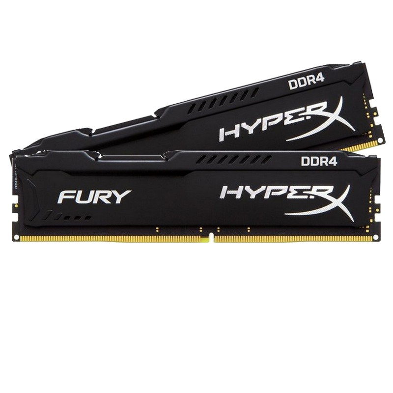 Ram PC Kingston HyperX Fury Black 8GB Bus 2400 DDR4 new bảo hành 36 tháng