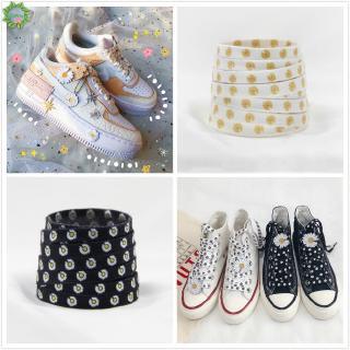 Cặp dây giày thể thao in hình hoa cúc nhỏ dài 140cm phong cách Hàn Quốc xinh xắn