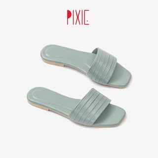 Dép Lê Bệt Bản Ngang Xếp Li Pixie X472