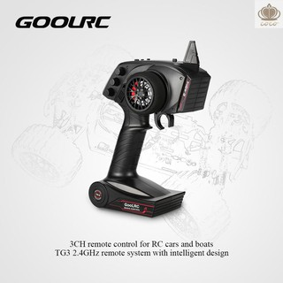 Coco* Original GoolRC TG3 2.4GHz 3CH Digital Radio Remote Control Transmitter with Receiver for RC Car Boa