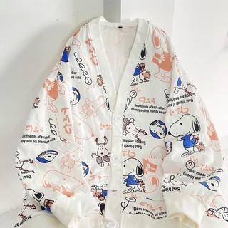 Áo Cardigan Snoopy siêu xinh Form unisex Nam nữ (Hình thật của Shop 100%)