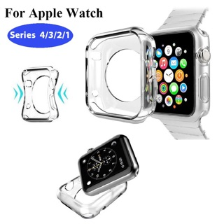 Ốp Silicon Trong Suốt Bảo Vệ Mặt Đồng Hồ Apple Watch 1/2/3/4/5 Size 38, 40, 42, 44