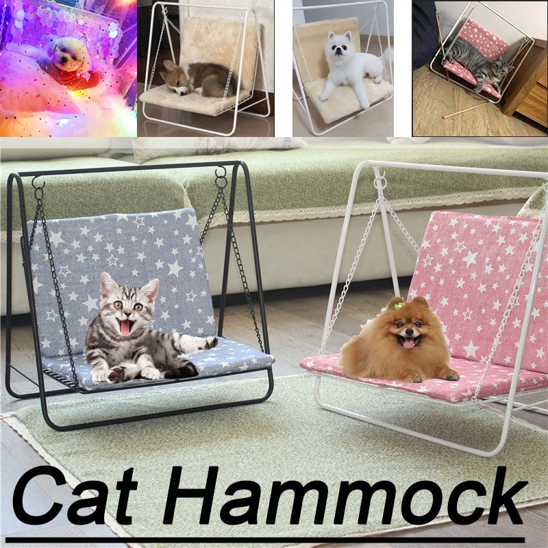 Cat Hammock Swing chair Cute Pet Hanging Beds Cat Sunny Seat Pet Cat Soft Mat