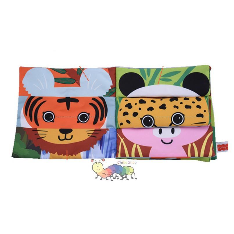 Sách vải ghép hình con vật/ động vật Mix and Match