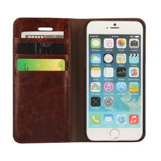 Bao da thật có ngăn đựng thẻ cho Apple iPhone 6 Plus / 6S Plus