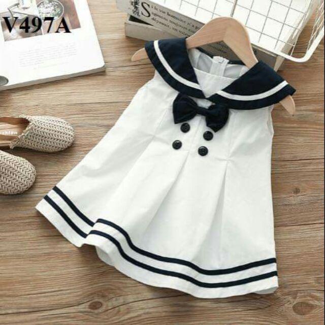 Đầm thuỷ thủ cho bé