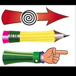 Con quay bàn tay , bút chỉ , mũi tên ( có nam châm )