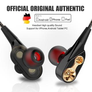 Tai nghe nhét tai QKZ CK8 HiFi lõi 4 nhân có tích hợp microphone kết nối cổng 3.5mm