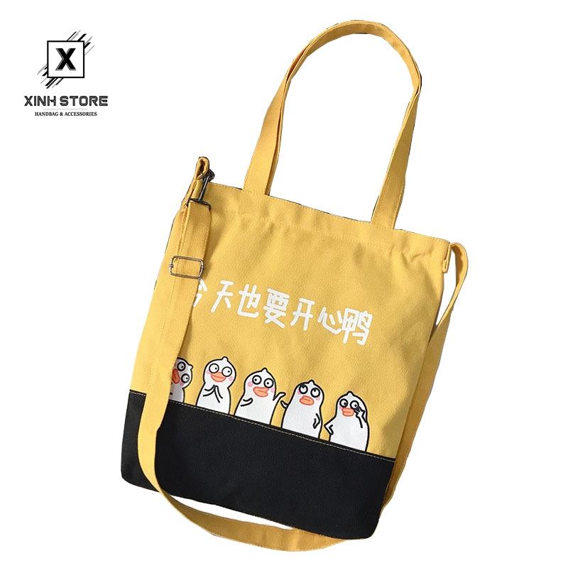 Túi Vải Tote XinhStore Hình Chim Cánh Cụt