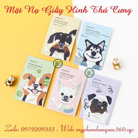 Mặt Nạ Giấy Cún Cưng Innisfree My Real Pet Mask (2018) - 9965873 , 838750641 , 322_838750641 , 60000 , Mat-Na-Giay-Cun-Cung-Innisfree-My-Real-Pet-Mask-2018-322_838750641 , shopee.vn , Mặt Nạ Giấy Cún Cưng Innisfree My Real Pet Mask (2018)
