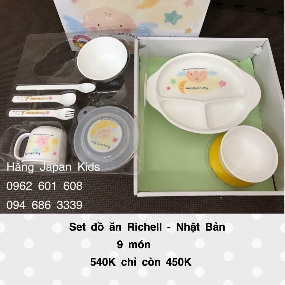 Richell - Bộ đồ ăn 9 món