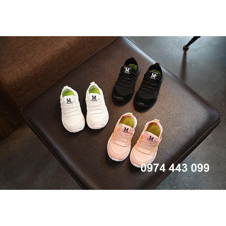 10 đôi giày thể thao chữ M cho bé size 21-30