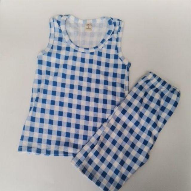 Bộ mặc nhà bé trai  bé gái áo ba lỗ quần đùi