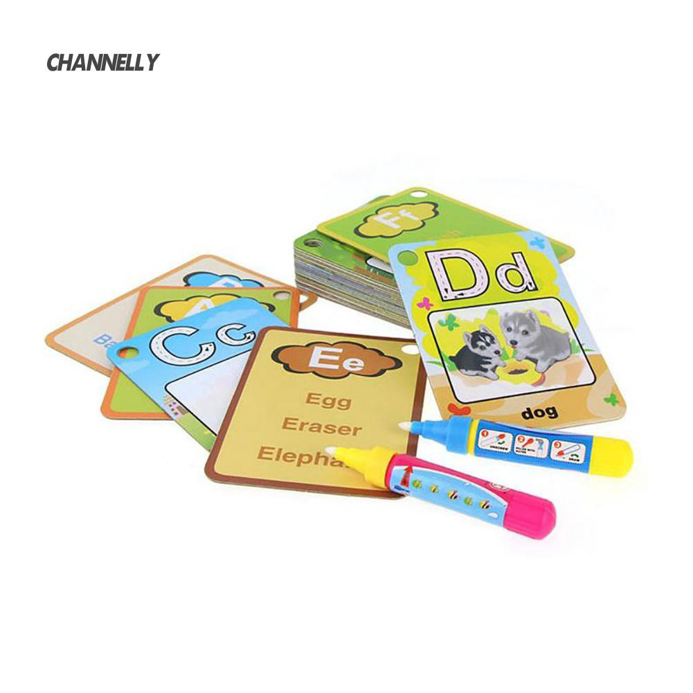 ■Cy 26 Letters Flash Card Water Painting Graffit Board Kids Early Education Toys