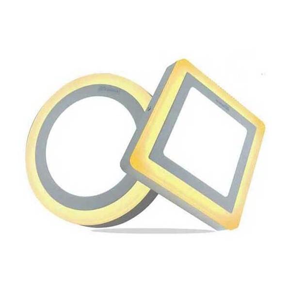 ĐÈN GẮN TRẦN -ỐP TRẦN NỔI 16w ( 12+4w ) 24w ( 18+6w ) viền vàng 3 chế độ