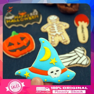 Supermal Stainless Steel Baking Mold Halloween Embossing Cookie Mold Easy to Clean for Home