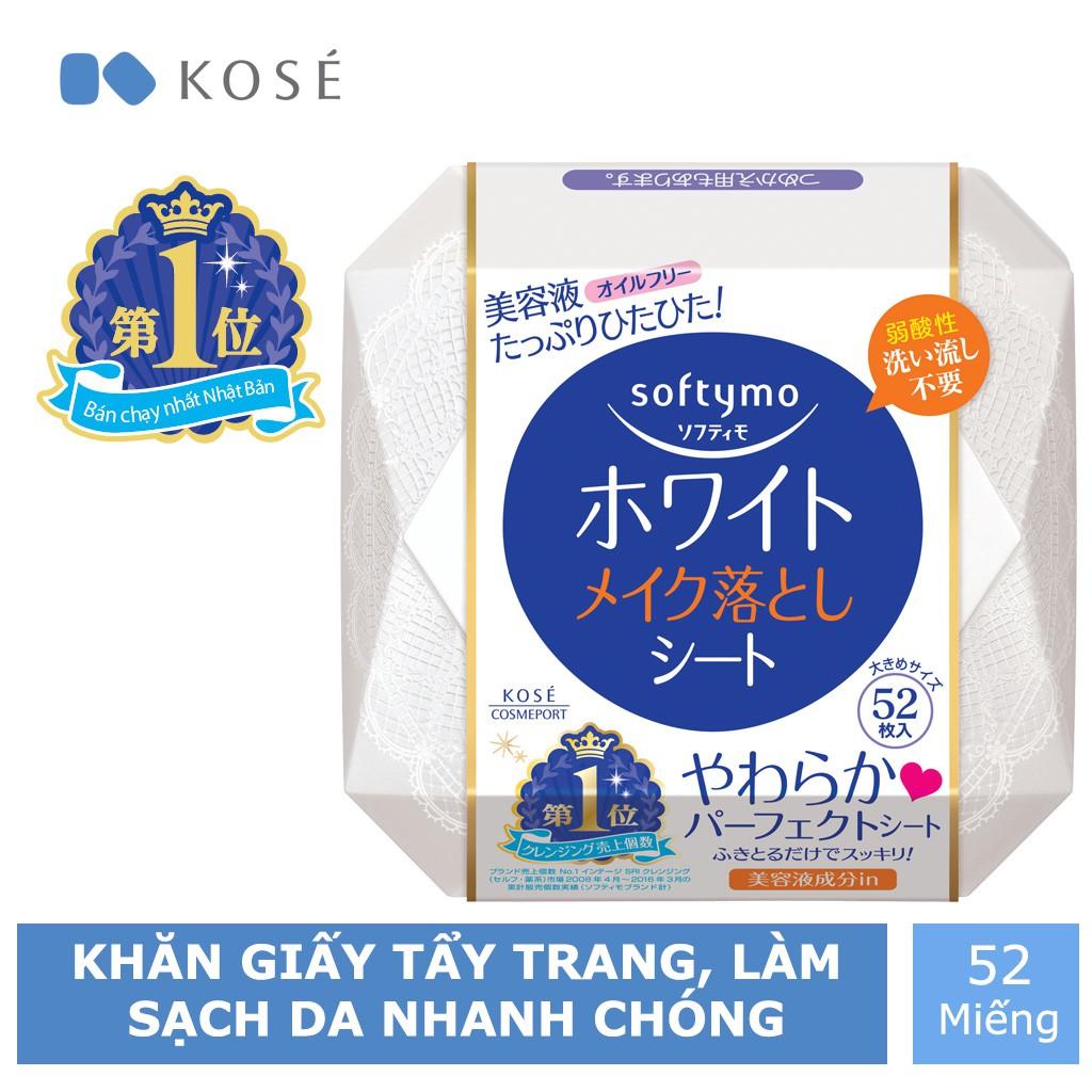Khăn Giấy Tẩy Trang Kosé Cosmeport Softymo White Cleansing Sheet B (white) 52 miếng 182ml - 3502585 , 810182219 , 322_810182219 , 290000 , Khan-Giay-Tay-Trang-Kose-Cosmeport-Softymo-White-Cleansing-Sheet-B-white-52-mieng-182ml-322_810182219 , shopee.vn , Khăn Giấy Tẩy Trang Kosé Cosmeport Softymo White Cleansing Sheet B (white) 52 miếng 182ml