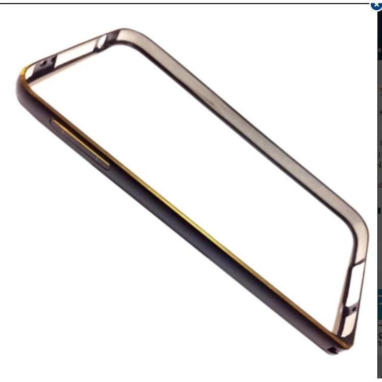 Ốp viền nhôm cho Samsung Sony E4 (Đen) - Hàng Nhập Khẩu