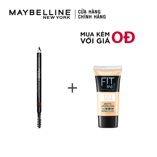 Chì Kẻ Mày 2 Đầu Với Đầu Chì Xéo Mềm Mịn Maybelline New York Fashion Brow Shaping Pencil 1.5g - Dark Brown
