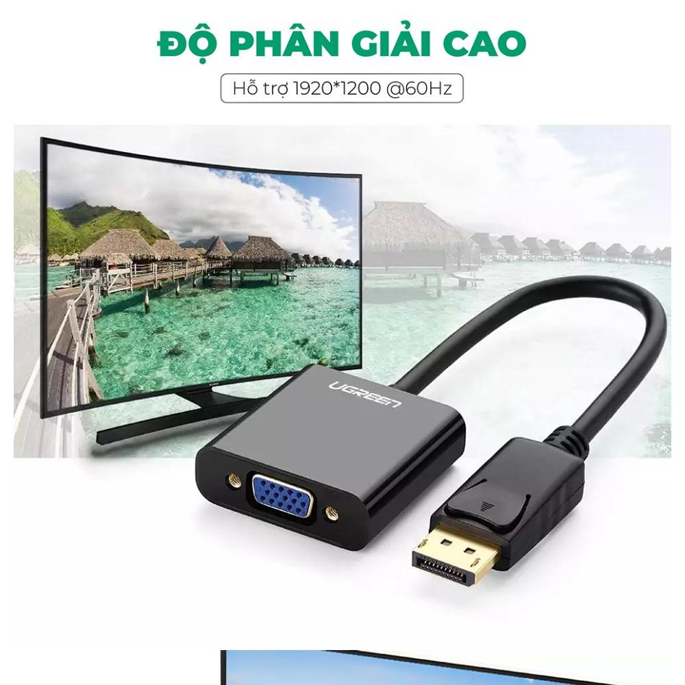 Cáp chuyển Displayport to VGA cao cấp Ugreen 20415(màu đen)