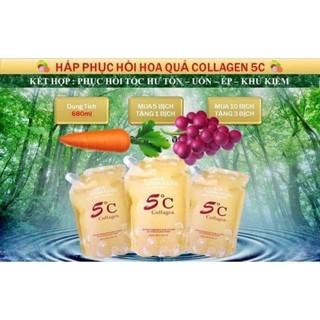 hấp colagen hoa quả 5c