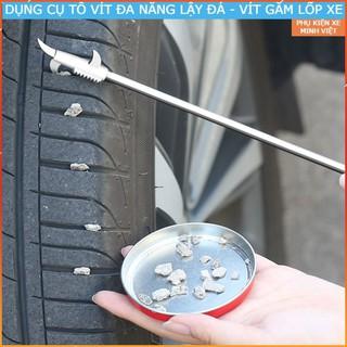Tô vít đa năng, kiêm dụng cụ kiểm tra móc đá lốp xe ô tô có túi đựng kèm theo thumbnail