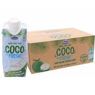 24 chai nước dừa nguyên chất coco Vinamilk 330ml