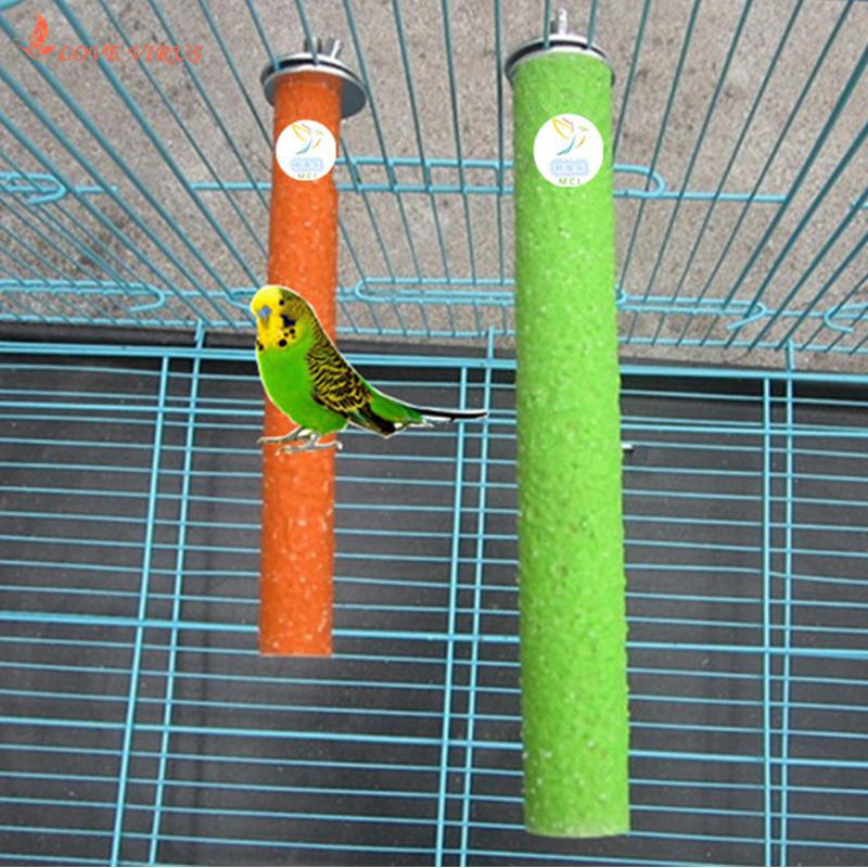 Parrot Stand Perch Frame Standing Rod Bar Rack 1.5*10cm Birds Supplies