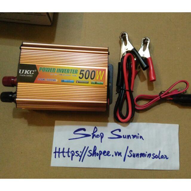Inverter kích điện 12V lên 220V 500w sóng vuông