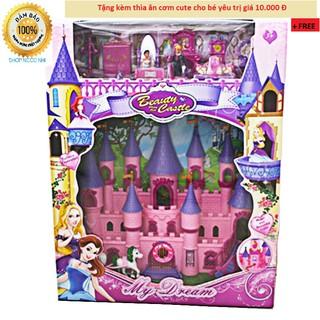 Bộ đồ chơi lâu đài và búp bê cho bé