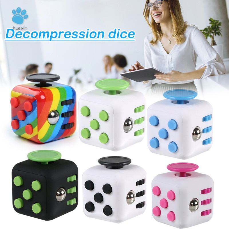 Stress-Relief Dice Small Fun Cubes Finger Sports Toy Game Dice Children's Toys For Kids To Relax Toys