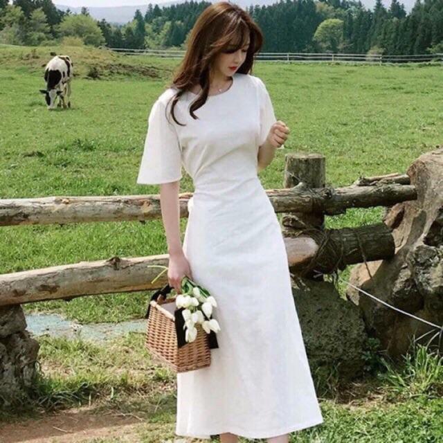 Đầm maxi full lót trắng tinh khôi chơi hè hết sẩy 🍍 Ảnh thật