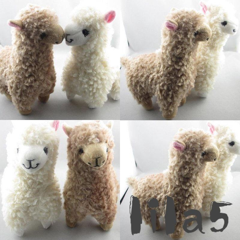 ღ☭Lovely Alpaca Llama Plush Toy Japan Animal Children Doll 23cm High Creamy