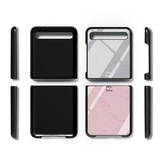 Bao Da Điện Thoại Nắp Gập Mặt Kính Cho Samsung Galaxy Z Flip Fold2
