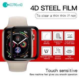 Miếng Dán Cường Lực COTEetCI 4D Bảo Vệ Màn Hình Apple Watch Series 5/4/3/2/1 Chống Va Đập Trầy Sước 38mm|42mm|40mm|44mm