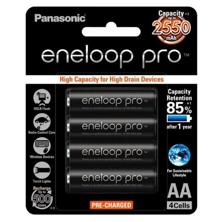 Pin AA Panasonic Eneloop 2500mAh (Màu đen)