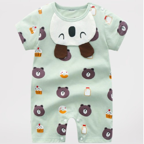Bộ Body Đùi Hình Gấu Chất Cotton Hàng Quảng Châu Cho Bé