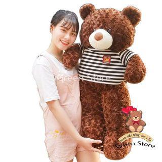 (Ảnh Thật 100%)-Gấu Bông Teddy 1m2 Khổ vải 1m chiều cao HÀNG CHUẨN LOẠI 1