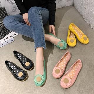 Giày nhựa đi mưa nữ hoa cúc siêu nhẹ, siêu xinh, siêu bền V257