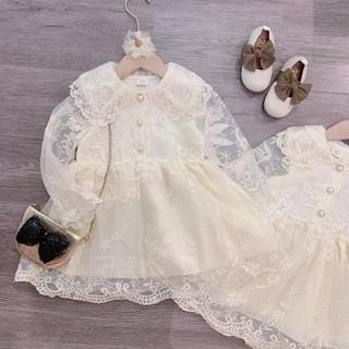 Bán sỉ váy ren trắng bé cúc ngọc BG