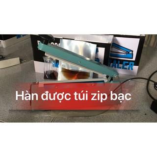 [ PFS200 VỎ THÉP LOẠI TỐT ] Máy hàn miệng túi dài 20cm   Máy ép miệng túi nước mắm   Máy hàn miệng túi nilon PFS200