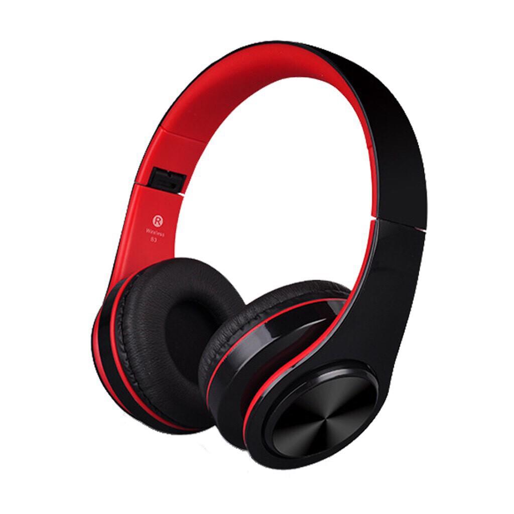 Tai nghe chụp tai cao cấp có khe thẻ nhớ Bluetooth P47 (Trắng) kèm cáp sạc